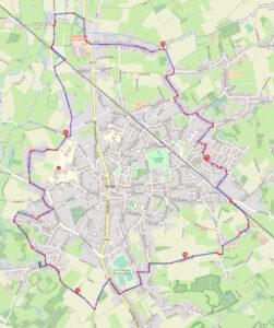 route-fietstocht